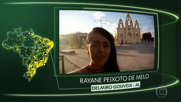 Jovem de Delmiro Gouveia tem vídeo exibido no Jornal Hoje no  quadro ''O Brasil que eu quero''