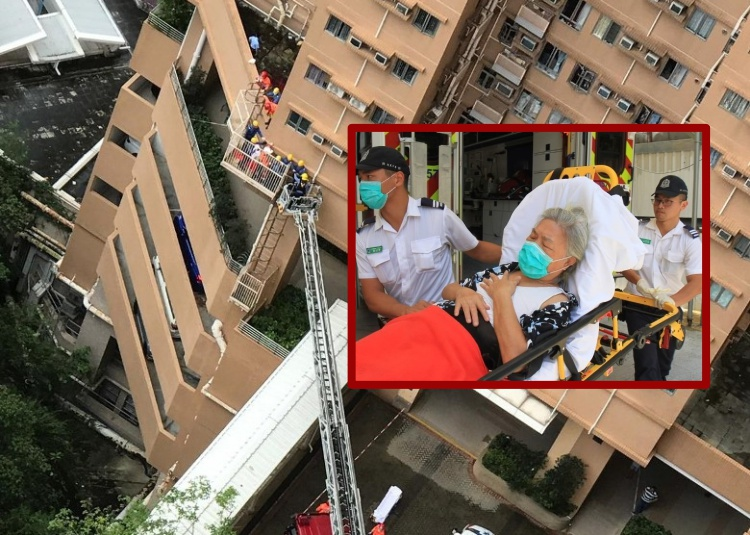 Kaget Temukan Anaknya meninggal Dunia Jatuh Dari Ketinggian, Nenek 72 Tahun di Wong Tai Sin dilarikan kerumah Sakit