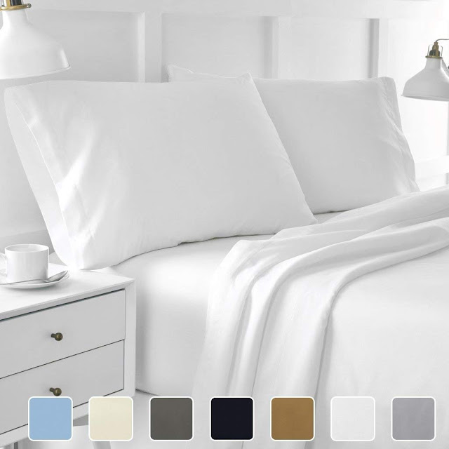 4-Piece Hotel Luxury Bed Sheets