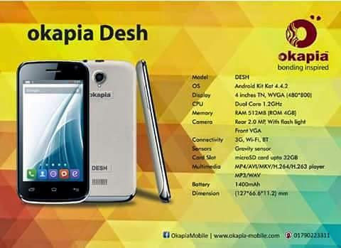 Okapia-Desh-MTK-6572-Official Firmware-Driver-SP Flash Tool
