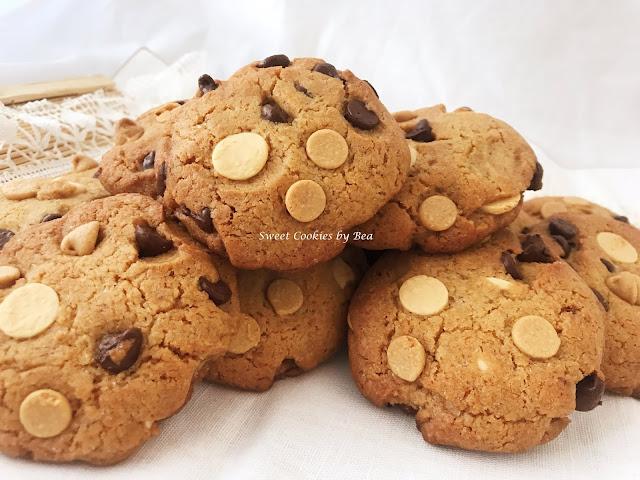 Cookies de harina de garbanzo con chips de chocolate triple #singluten