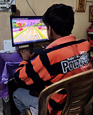 Child playing video game during COVID-19 Lockdown