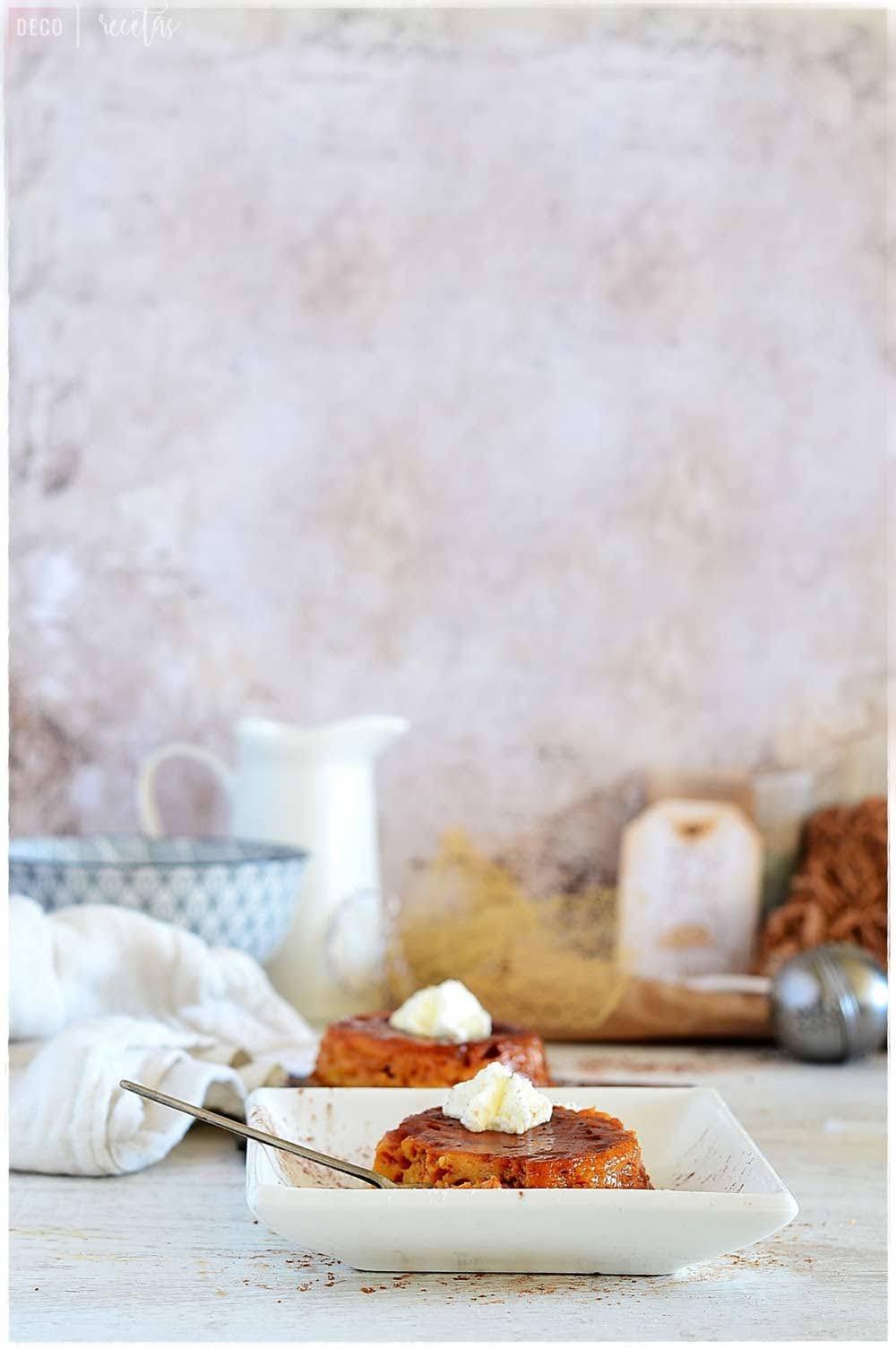 Receta de flan de huevo al horno