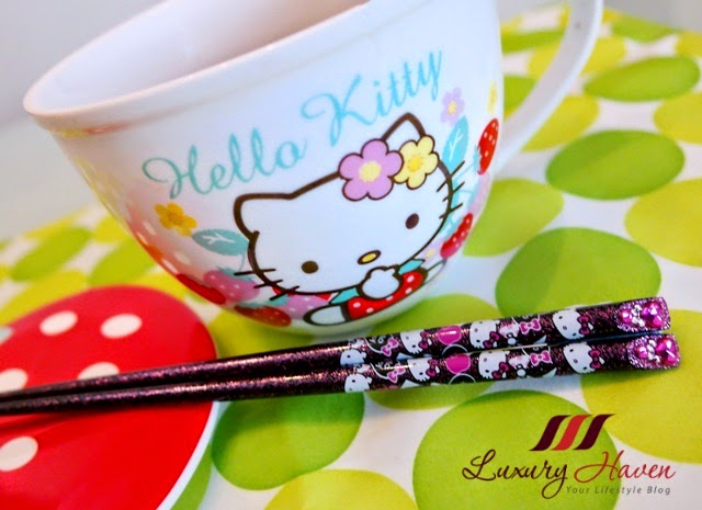 hello kitty bowls chopsticks kitchenware