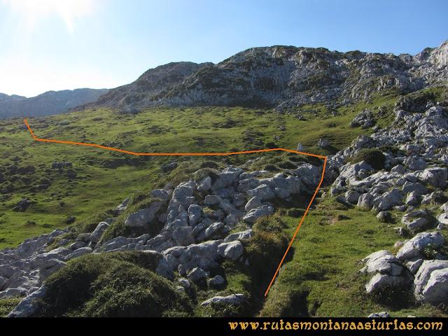 Ruta Ercina, Verdilluenga, Punta Gregoriana, Cabrones: La Camperona
