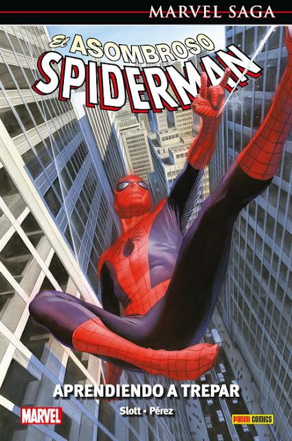 Reseña de Marvel Saga. El Asombroso Spiderman 45. Aprendiendo a trepar de Dan Slott - Panini Comics