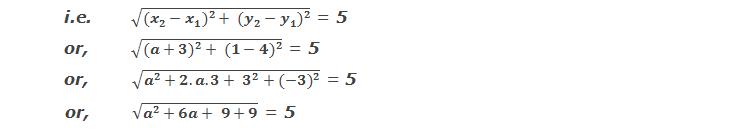 Distance = 5 units