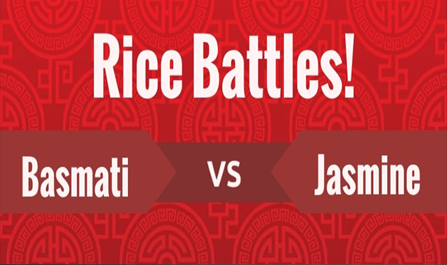 Come up and fight! Rice Basmati Vs Jasmine #infographic