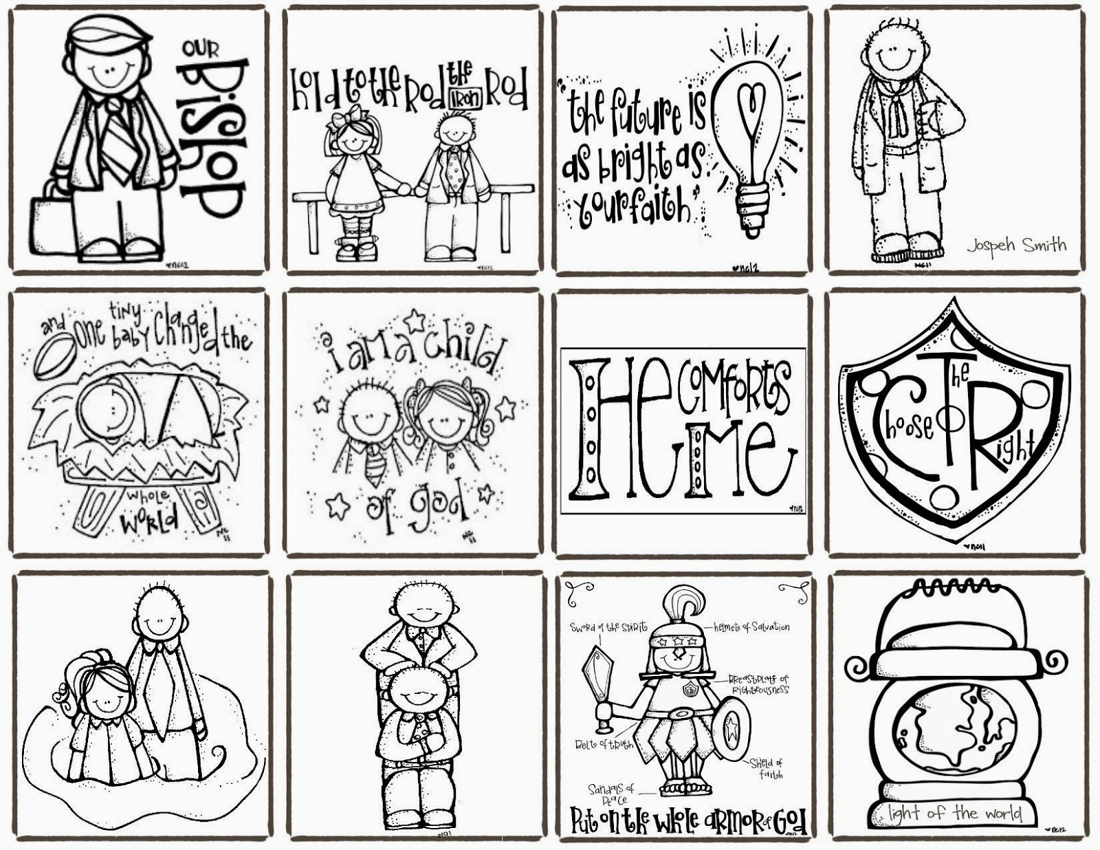 Melonheadz Lds Illustrating Designed By Cheri