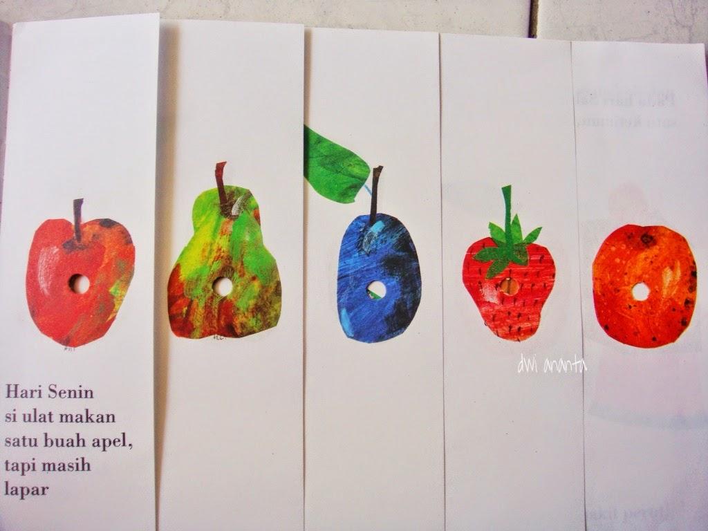 25 gambar mewarnai apel dimakan ulat