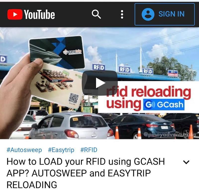 GCASH TO RFID RELOADING