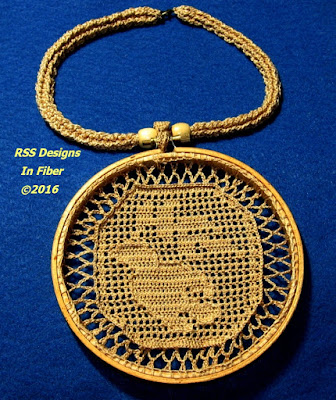 Bird of Peace Pendant Necklace - Handmade By RSS Designs In Fiber