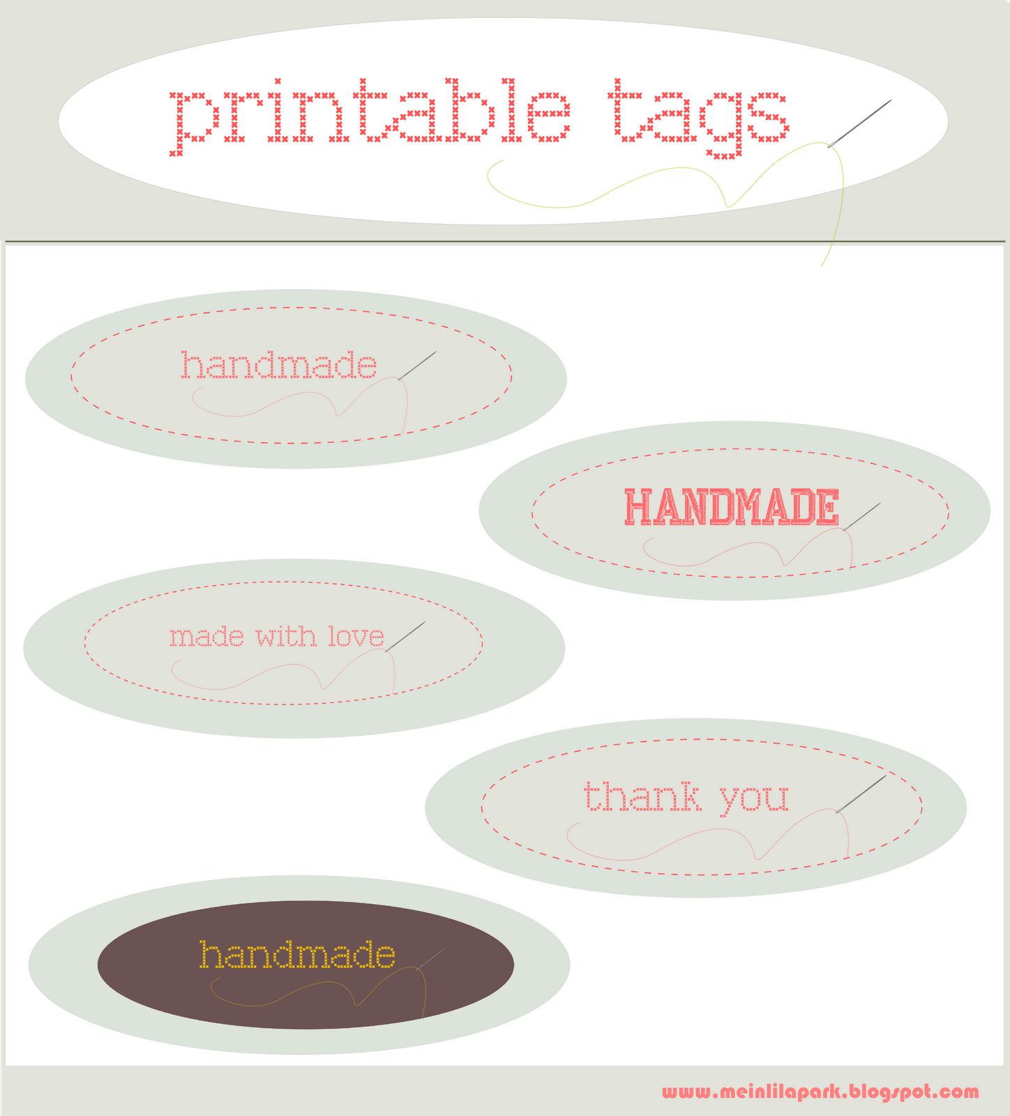 Free Printable Handmade And Made With Love Tags