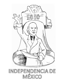 DIBUJO PARA COLOREAR DE LA INDEPENDENCIA DE MÉXICO
