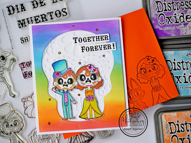forever together sugar skull card