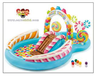 مسبح اطفال مع زحليقة
