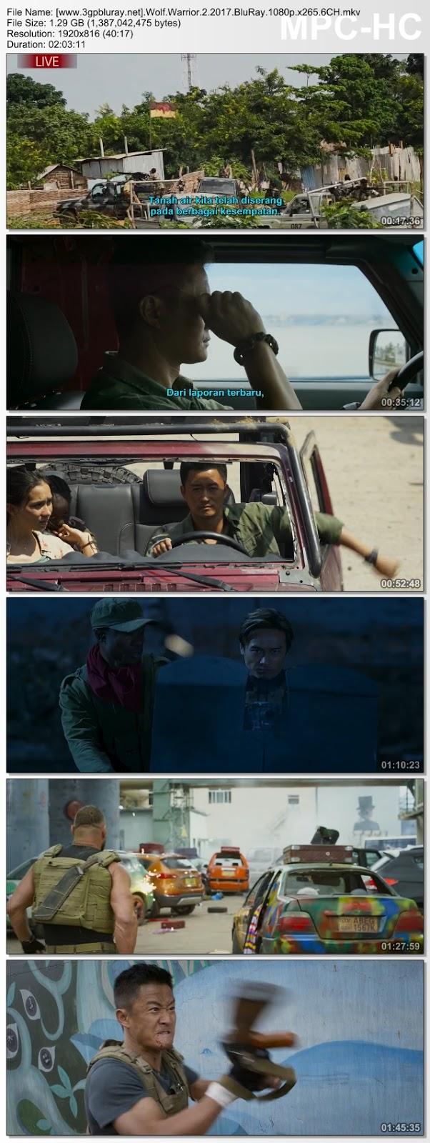Screenshots Download Film Gratis Hardsub Indo Zhan lang II (2017) BluRay 480p MP4 Subtitle Bahasa Indonesia 3GP