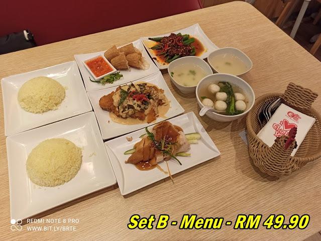 TCRS Grilled Butter Chicken Menu - Set B - 2 Pax