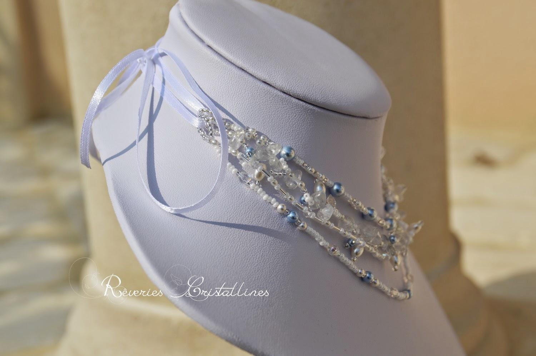 bijoux mariage blanc et bleu