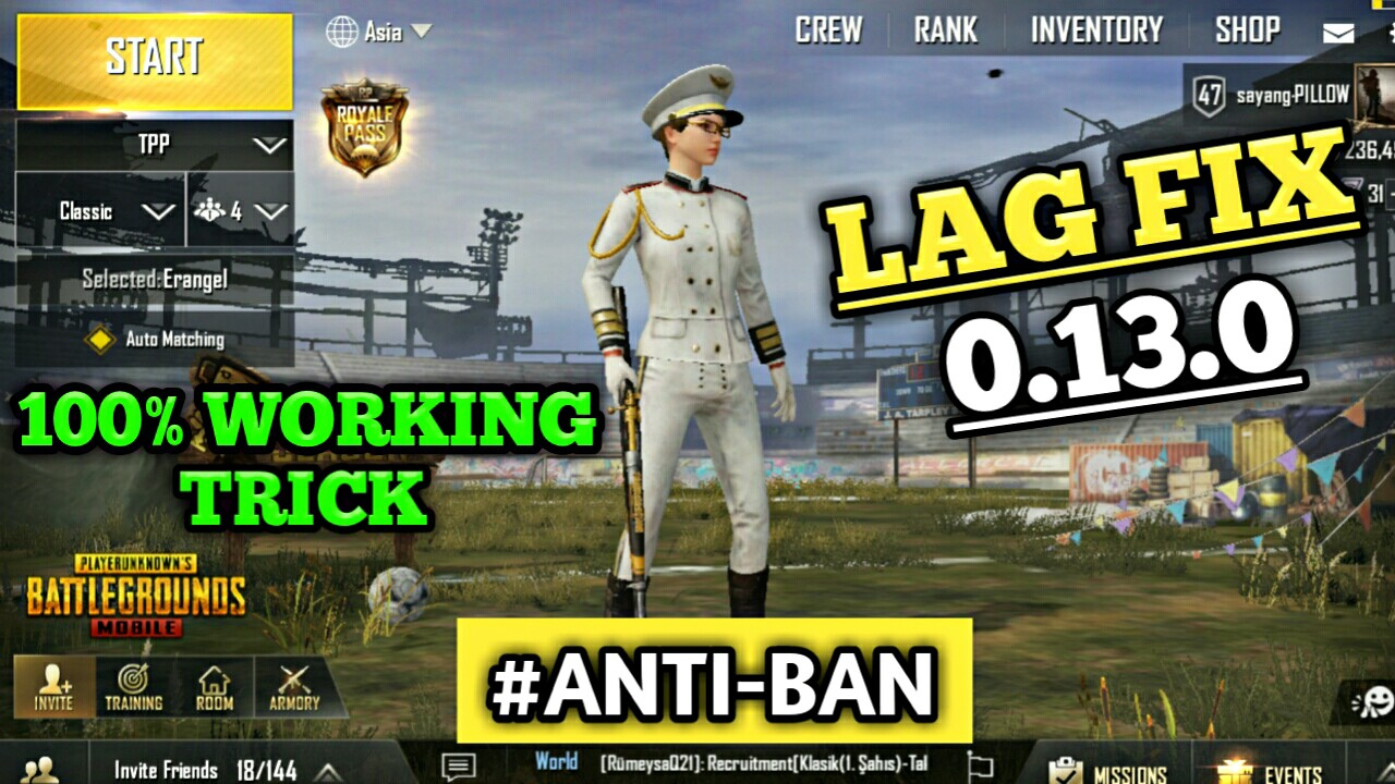 New Config File For Lag Fix Pubg Mobile 0 13 0 - Gaming Loverz