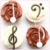 Cupcakes notas musicales