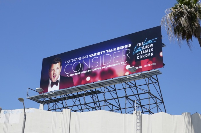 James Corden Emmy 2019 FYC billboard