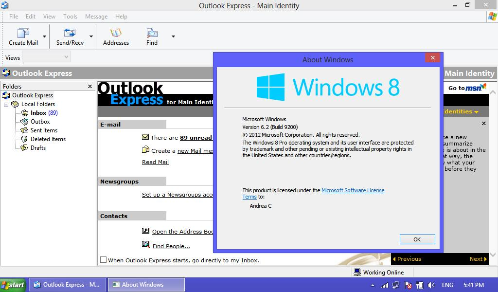 Andrea Sites : Get Back Outlook Express On Windows 7 And 8