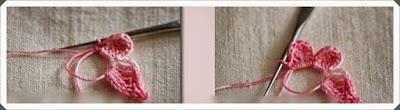 Tığ işi Örgü Kelebek Lastikli Model Yapımı, Resimli Açıklamalı 2