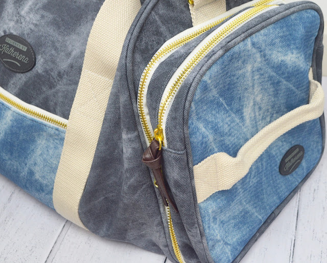 Katherina Double Denim Unisex Regent Holdall Bag Review, Lovelaughslipstick Blog