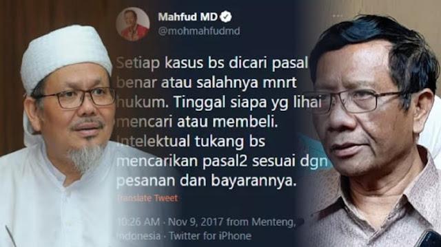 Tweet Lawas Terkait Pasal Kasus Bisa Dibeli, Tengku: Ngeri! Betul ini Pak Mahfud yang Nulis?