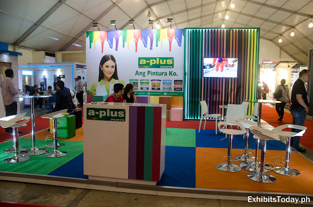 A-Plus paint exhibition stand