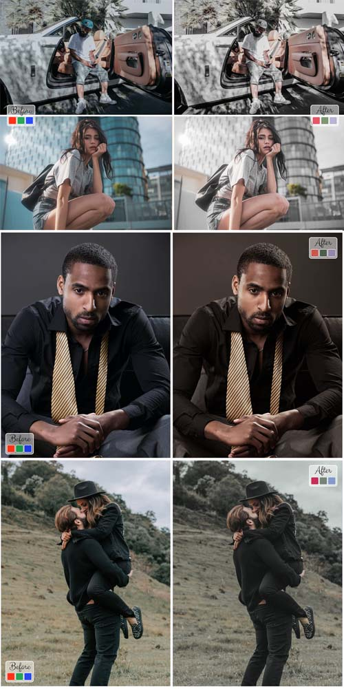 10 Photoshop Actions ACR LUT Neo Rich