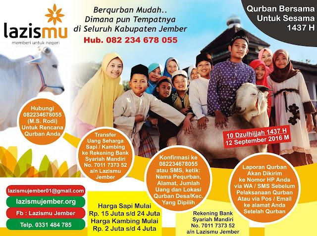 Qurban Bersama untuk Sesama di Kabupaten Jember