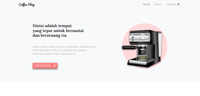Aplikasi Pemesanan Kopi Cafe Berbasis Web