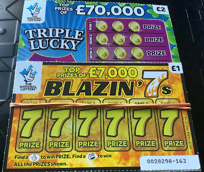 Blazin' 7s National Lottery Scratch Card