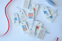 patriotic wooden tags