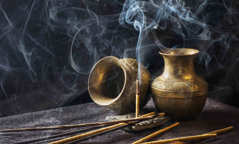 Carefully burn some incense.