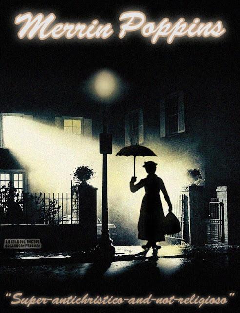 Meme de humor sobre Mary Poppins y El exorcista