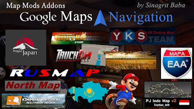 Google Maps Navigation Normal & Night Version Map Mods Addons v6.1