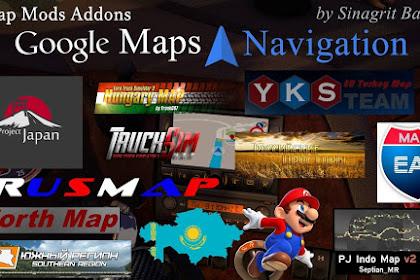 Google Maps Navigation Normal & Night Version Map Mods Addons v6.1
