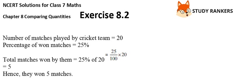 NCERT Solutions for Class 7 Maths Ch 8 Comparing Quantities Exercise 8.2 5