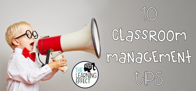 Classroom management tips for the elementary classroom.