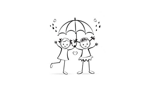 dibujos faciles de amistad para niños pequeños de preescolar