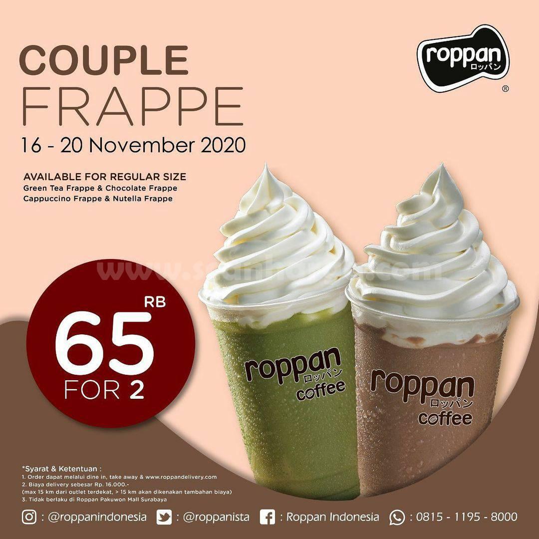 Roppan Promo Harga Spesial Couple Frappe Rp 65k for 2