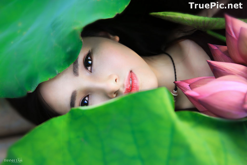 Image Vietnamese Model - Hong Rubyshi - Beauty Girl and Lotus Flower #1 - TruePic.net - Picture-3