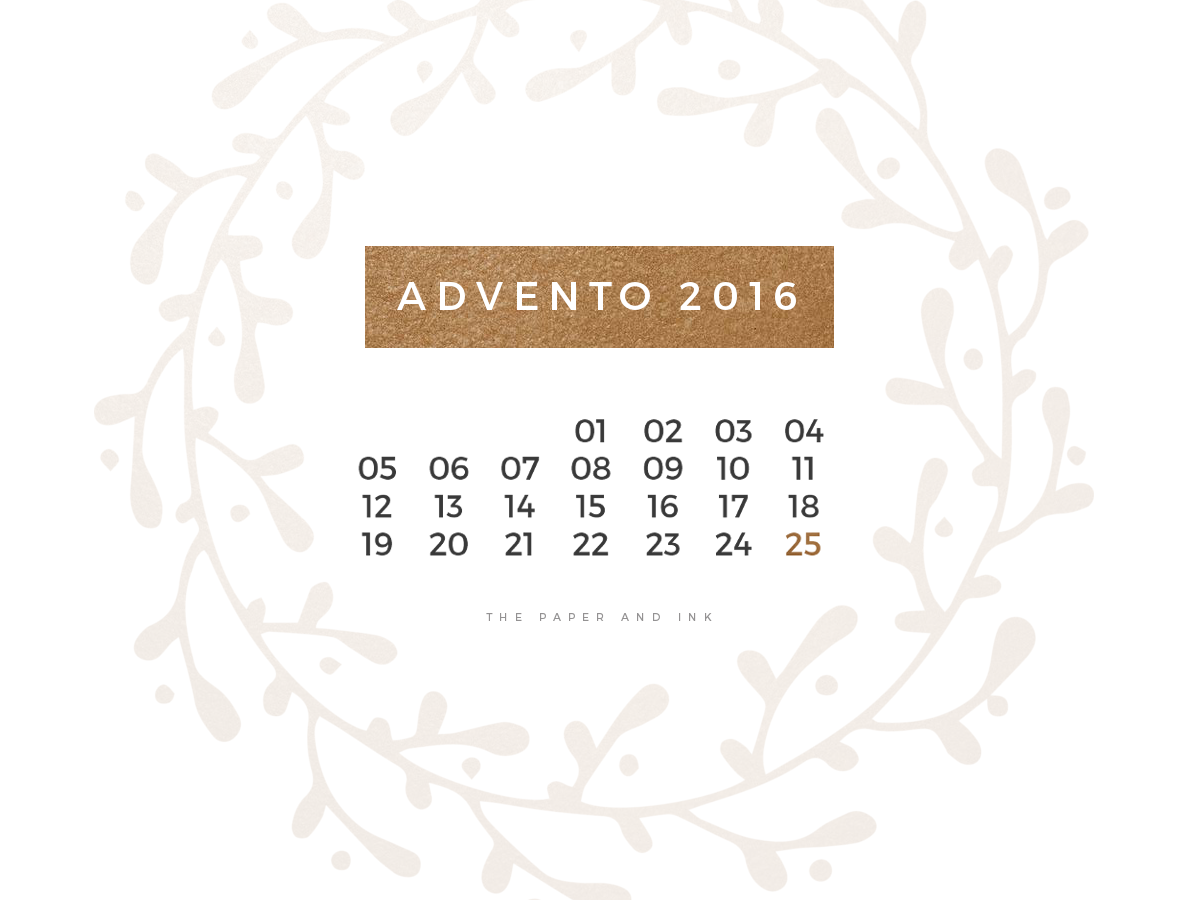 Christmas Advent 2016 by The Paper and Ink