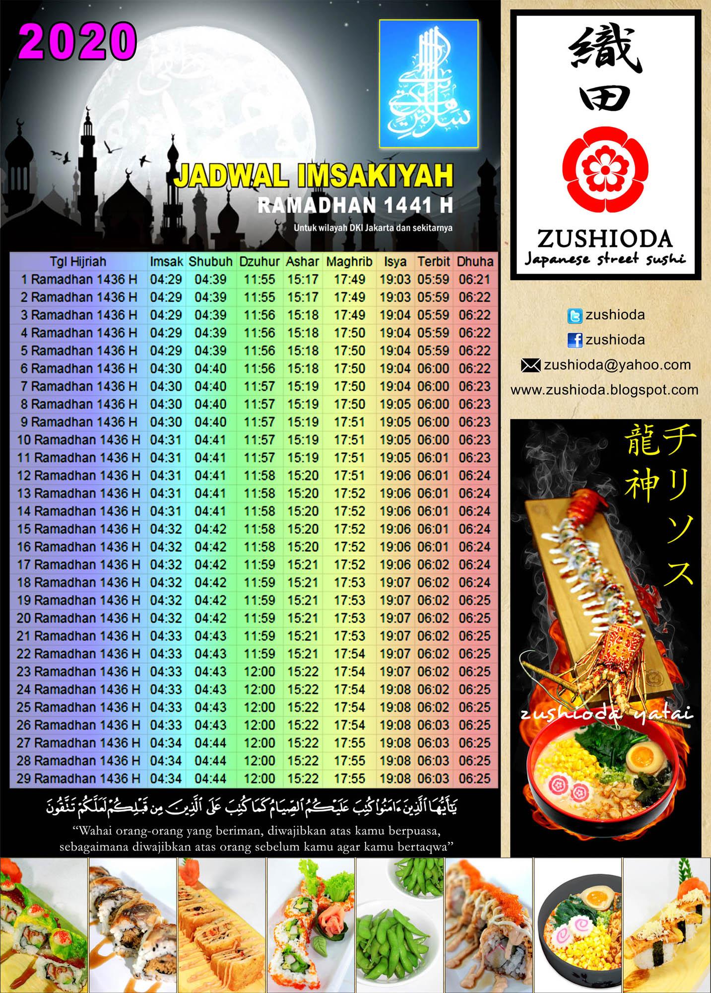 japangono: Jadwal Puasa Ramadhan 2020 - 1441 hijriyah