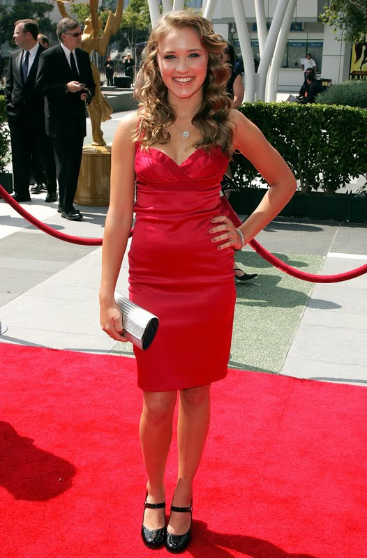Emily Osment Sexy In Red Dress