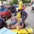 VÍDEO: Fuga de motoqueiros termina em acidente, e dois feridos nas Ruas em Sousa