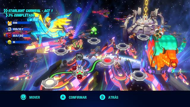 Sonic Colours Ultimate - Selección de nivel